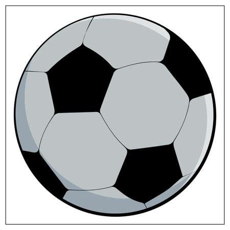 Vector Soccer ball on white background. Vector Flat illustration of football