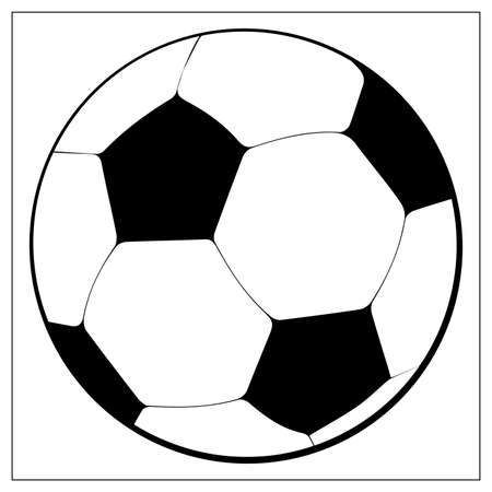 Vector Soccer ball Icon. Outline vector illustration of football