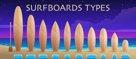 surfboards collections illustration