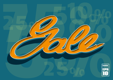 house clearance: Sale poster with percent discount