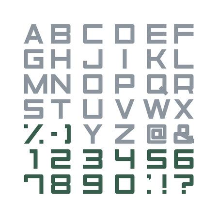 punctuation marks: Alphabet Set, abc, punctuation marks, isolated Illustration
