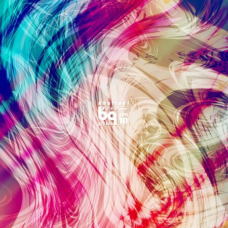 nirvana: Vector design, colored abstract background, futuristic  illustration, glitch, infinity