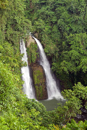 Kipot twin waterfalls is one of many in the Philippine Islands  Stock Photo - 14605888