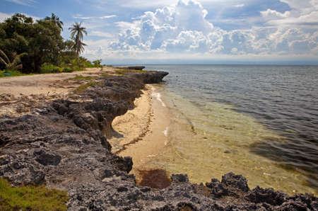 pristine corals: Doljo Point on Panglao Island, Bohol, Philippines has many small, secluded, beautiful white sand beaches untouched by development or tourism