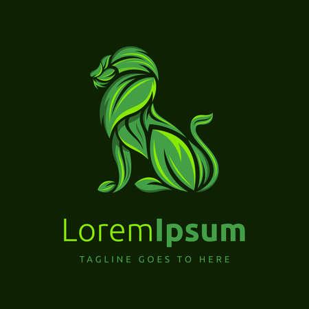 Herbs Logo, Herbs symbol or  botanical Logo design template. Creepy plant logo, Sinuous green herbs symbol or botanical Logo Design.