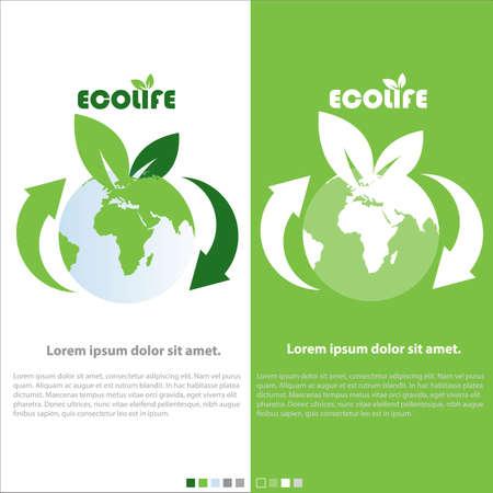 life green: eco Life, green planet vector concept