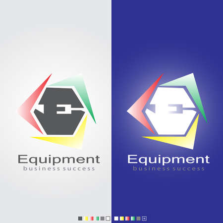 ci: E Equipment symbol for business success by vector