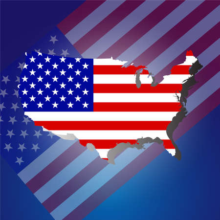 qualify: American Flag, Flags concept vector design
