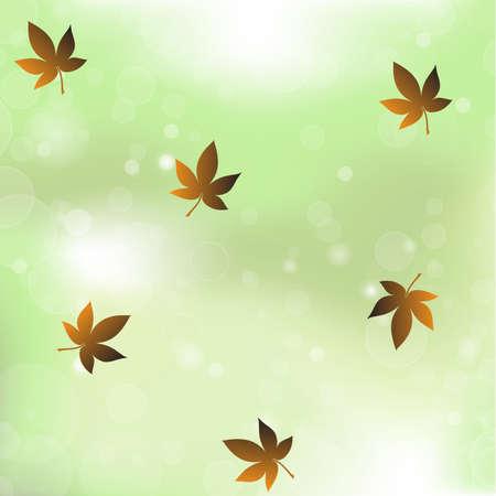 greenness: maple vegetation bokeh background vector