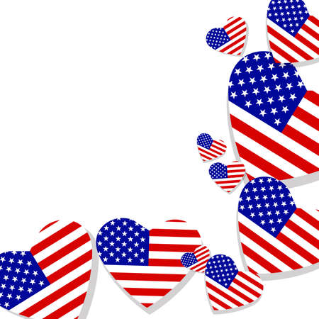 qualify: American banners template vector design