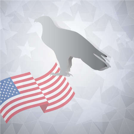 qualify: American banners template lowpoly vector design Illustration