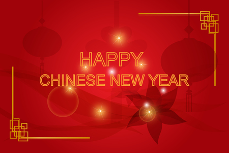 chinese new year card: happy chinese new year background,vector
