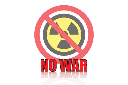no nuclear: no war icon vector design Illustration