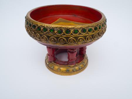 galvanized: Thai Bowl on on white background.