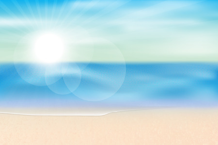 sea view summer season background,vector