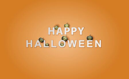 Happy Halloween background.Holiday enjoy funny horror party template.Creative minimal paper cut and craft style scene place of your text.Decorative element festival sale poster,banner concept.vector
