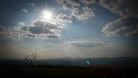 Cloud Shading sunlight beautiful evening sunset
