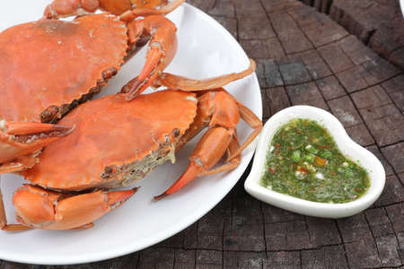 crap: The steamed crap of Thai sea food Stock Photo
