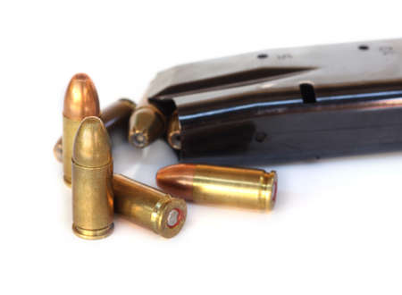 five objects: several bullets