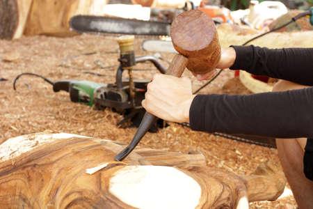 gouge: gouge wood chisel carpenter tool hammer hand