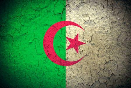 algeria: flag of Algeria painted on grunge wall