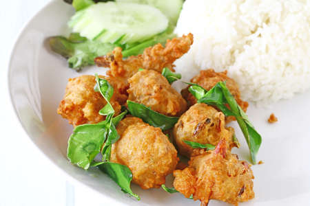 Fried Chicken with Rice.