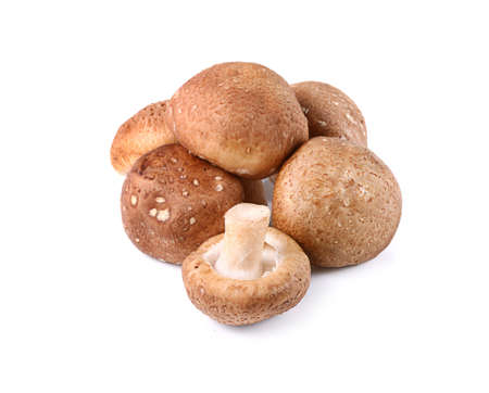 mushrooms on white background Фото со стока