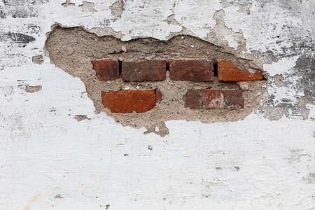 cracked concrete vintage brick wall background Фото со стока