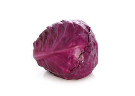red cabbage isolated on white background Фото со стока