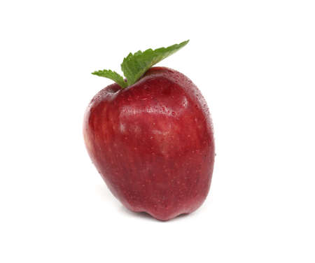 Red apple Isolated on white background. Фото со стока