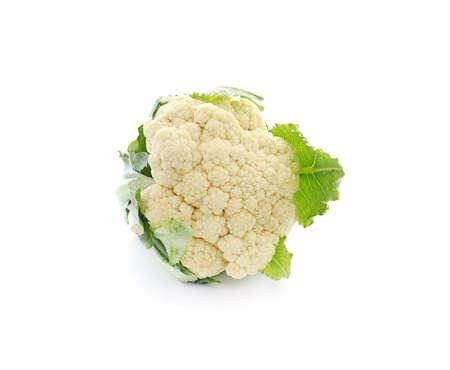 Fresh cauliflower isolated on white