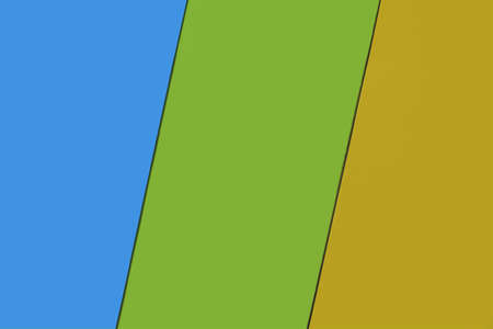 Three background colors, with little inclination