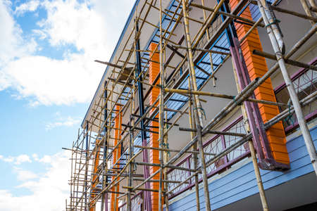 Wood scaffold photo