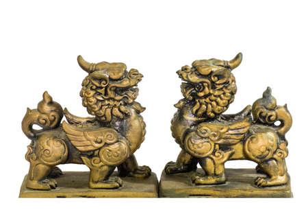 talism: Talism�n chino estatuilla aislado