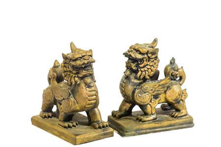 talism�n: Talism�n chino estatuilla aislado