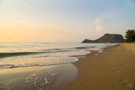 The beach of Prachuap Khiri Khan, Pak Nam Pran, Pran Buri, , Unseen Thailand Reklamní fotografie