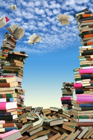 Dit is de boeken scramble. Veel boeken te verspreiden onder hemel.