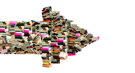 This is dart from books. This a pointer where is sellout of the books. Stock Photo - 6611320