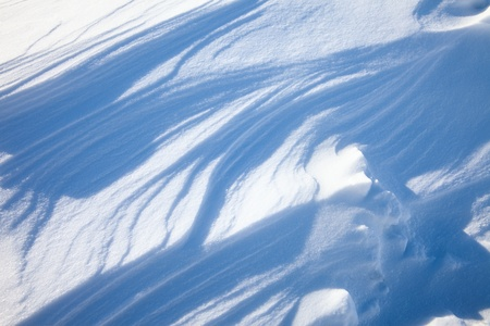 drift: Fantastic texture of snow drifts was created by strong wind.
