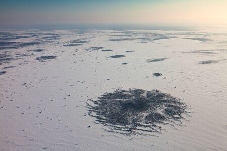 overhand: Vasyugan marshes in winter, top view