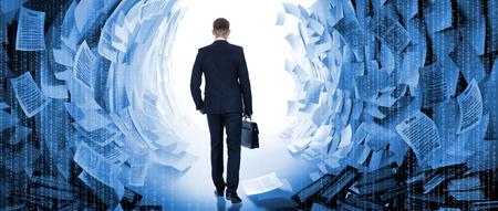 Concept oplossing van probleem door zakenman