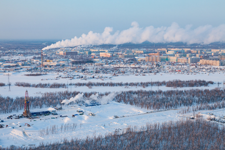 vicinity: Winter view in vicinity of Megion town, Siberia, Russia