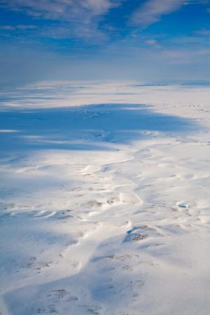 Top view of winter tundra Reklamní fotografie - 100637543