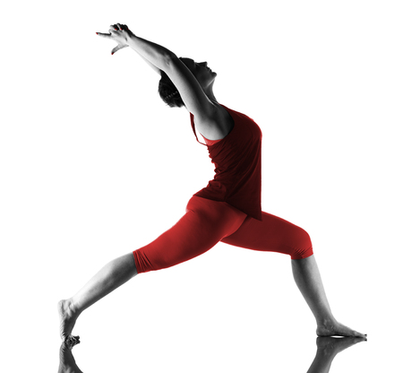 Woman making yoga exercise Reklamní fotografie - 101077934