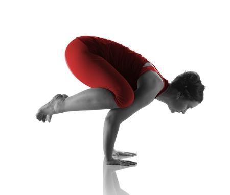 Yoga handstand by beautiful woman Reklamní fotografie - 101091515