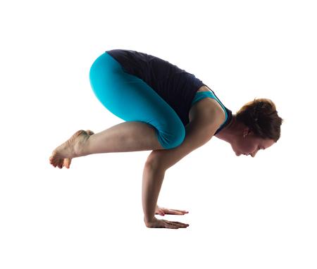 Yoga handstand by beautiful woman Reklamní fotografie