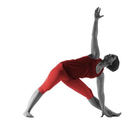 Woman making yoga exercise