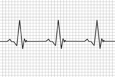Heartbeat simple. Pulse simple. Simple illustration concept.