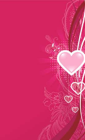 バレンタイン背景。別々 の画層上の要素  イラスト・ベクター素材