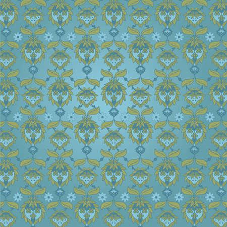 빅토리아 벽지. 꽃 벽지 패턴을 반복합니다. 쉽게 바둑판 식으로 배열하고 편집 할 수 있습니다.
